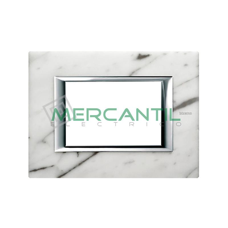 Marco rectilineo rectangular axolute bticino color for Color marmol carrara