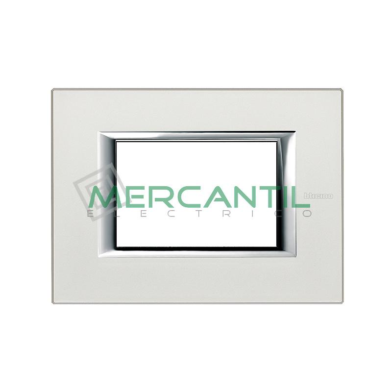 Marco Rectilineo Rectangular Axolute BTICINO - Color Plata