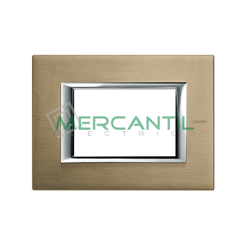 Marco Rectilineo Rectangular Axolute BTICINO - Color Titanio Satinado