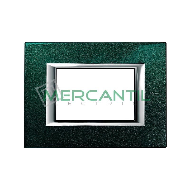 Marco Rectilineo Rectangular Axolute BTICINO - Color Verde Sevres