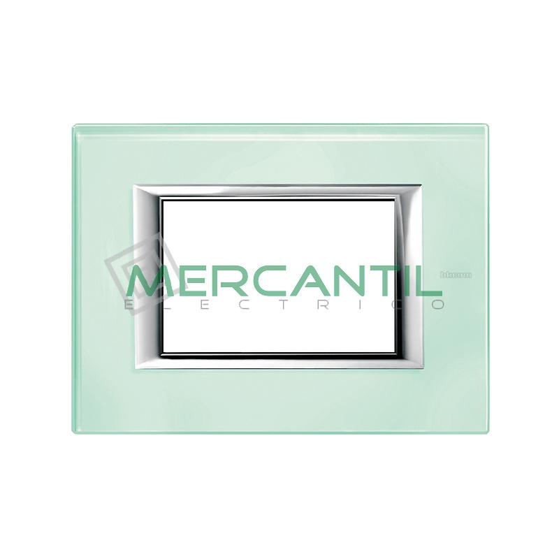 Marco Rectilineo Rectangular Axolute BTICINO - Color Vidrio Kristall