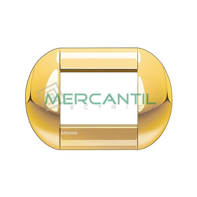 Marco Redondo Rectangular Living Light BTICINO - Color Oro