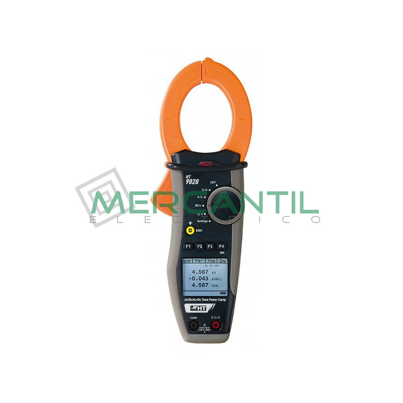 Pinza Amperimetrica Profesional con Medida de Potencia/Armonicos y Corriente de Pico HT9020TRMS HT INSTRUMENTS