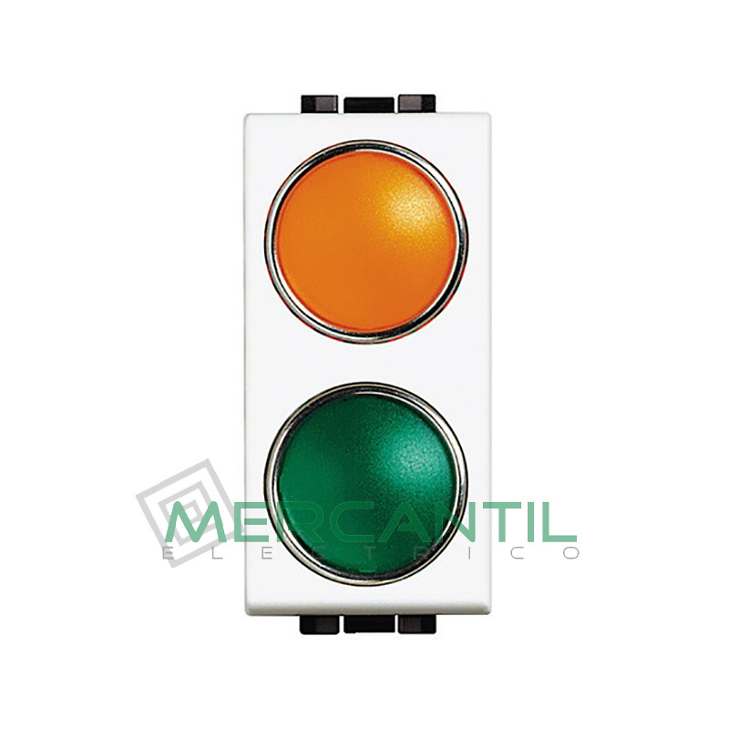 Portalamparas con Difusor 1 Modulo Living Light BTICINO - Color Naranja-Verde