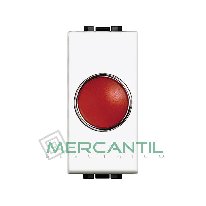 Portalamparas con Difusor 1 Modulo Living Light BTICINO - Color Rojo