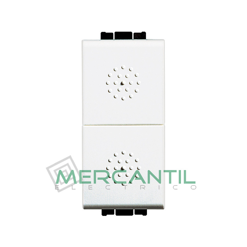 Pulsador Doble 1 Modulo Living Light BTICINO