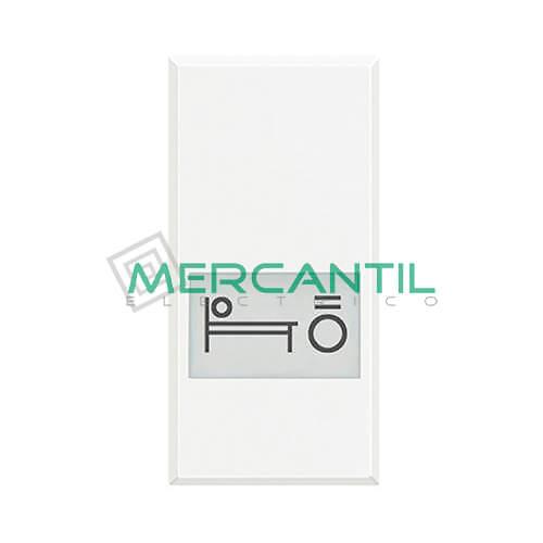 Tecla Axial con Lente y Simbolo Iluminable 1 Modulo Axolute BTICINO - Simbolo Luz Cama