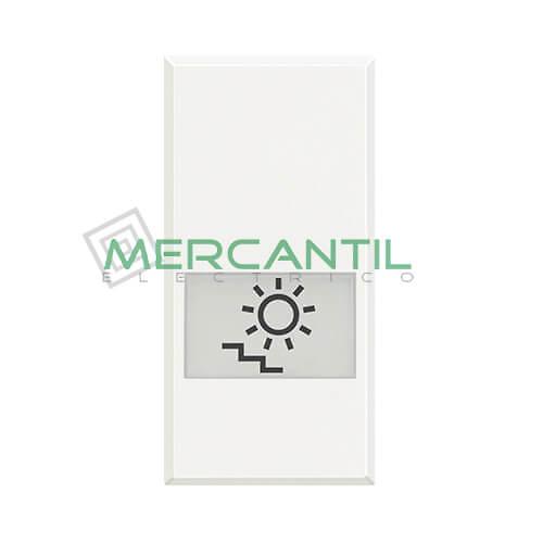Tecla Axial con Lente y Simbolo Iluminable 1 Modulo Axolute BTICINO - Simbolo Luz Escalera
