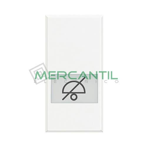 Tecla Axial con Lente y Simbolo Iluminable 1 Modulo Axolute BTICINO - Simbolo No Molesten