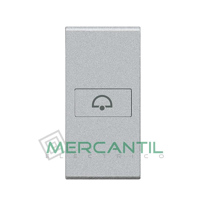 Tecla Axial con Lente y Simbolo Iluminable 1 Modulo Living Light BTICINO - Simbolo Timbre