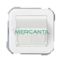 Adaptador Inclinado Informatico AMP/SYSTIMAX para UTP/FTP/Telefono 2 Conectores SIMON 31