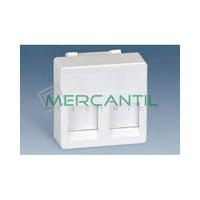 Adaptador Informatico Ancho AMP UTP/FTP/Telefono SIMON 27 Play - 2 Conectores