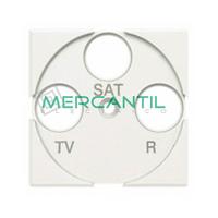 Adaptador con Serigrafia TV-R-SAT 2 Modulos Axolute BTICINO