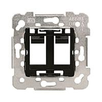 Adaptador para 2 conectores RJ45/RJ11 AMP Mec 18 BJC