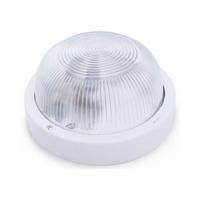 Aplique redondo PVC E27 Max.60W de superficie difusor vidrio blanco IP44 GSC