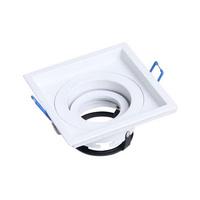 Aro basculante cuadrado empotrable 360 GU10 Max.50W 110x110x55mm para bombillas dicrocias aluminio blanco GSC