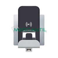 Base Cargador por Induccion y USB para Movil 2 Modulos Niloe LEGRAND