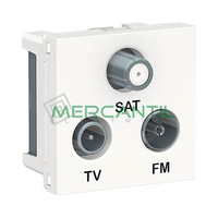 Base Derivacion Unica R-TV-SAT 2 Modulos New Unica SCHNEIDER ELECTRIC