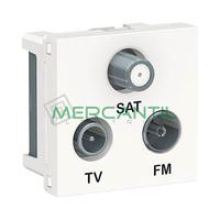 Base Derivacion Unica R-TV-SAT 2 Modulos New Unica SCHNEIDER ELECTRIC