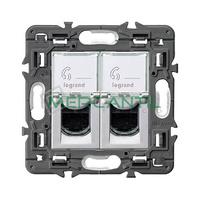 Base Informatica Doble RJ45 UTP Categoria 6 Valena Next LEGRAND - Color Aluminio