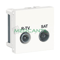 Base Intermedia R-TV/SAT 2 Modulos New Unica SCHNEIDER ELECTRIC