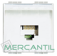 Base RJ11 - 4 Conectores 2 Modulos Living Light BTICINO