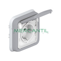 Base de Corriente 16A-230V 2P+T Lateral Plexo LEGRAND