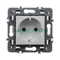 Base de Corriente 2P+T 16A Embornamiento Tornillo Valena Next LEGRAND - Color Aluminio