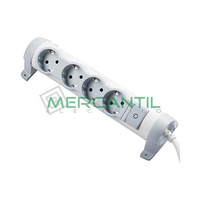 Base de Enchufe Multiple Confort con Cable 4x2P+T LEGRAND