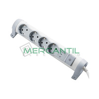 Base de Enchufe Multiple Confort y Seguridad con Cable y Limitador Sobretension 4x2P+T LEGRAND