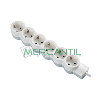 Base de Enchufe Multiple Estandar con Cable 6x2P+T LEGRAND