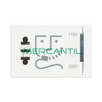 Base de Enchufe con Seguridad para Afeitadora 3 Modulos Axolute BTICINO