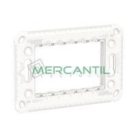 Bastidor Italiano de Plastico 3 Modulos New Unica SCHNEIDER ELECTRIC
