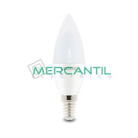 Bombilla LED 6W E14/C37 IP20 LEDME