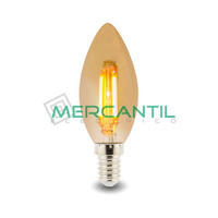 Bombilla LED de Filamento 4W E14/C35 IP20 LEDME