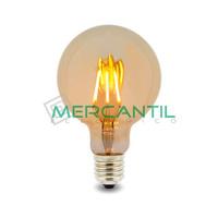 Bombilla LED de Filamento 6W E27/G125 IP20 LEDME