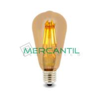Bombilla LED de Filamento 6W E27/ST64 IP20 LEDME