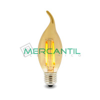 Bombilla LED de Filamento Punta 4W E14/C35 IP20 LEDME