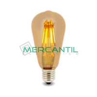 Bombilla LED de Filamento Regulable 6W E27/ST64 IP20 LEDME
