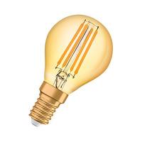 Bombilla decorativa vintage LED 1.4W E14 Vintage 1906 Gold Classic P Ledvance/Osram