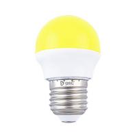 Bombilla esferica LED 2W E27 amarillo GSC