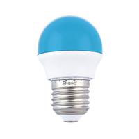 Bombilla esferica LED 2W E27 azul GSC