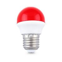Bombilla esferica LED 2W E27 rojo GSC