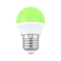 Bombilla esferica LED 2W E27 verde GSC