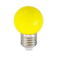 Bombilla esferica decorativa LED 1W E27 SMD amarillo GSC