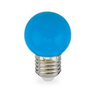 Bombilla esferica decorativa LED 1W E27 SMD azul GSC