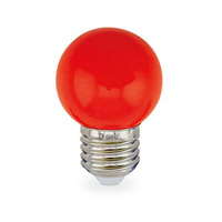 Bombilla esferica decorativa LED 1W E27 SMD rojo GSC