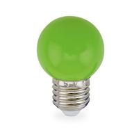 Bombilla esferica decorativa LED 1W E27 SMD verde GSC