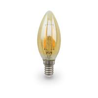 Bombilla filamento vela vintage decorativa LED 5W E14 GSC