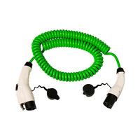 Cable 5m coil con extremo vehiculo modo 3 tipo 1 hembra y extremo WallBox modo 3 tipo 2 macho monofasico 32A Simon